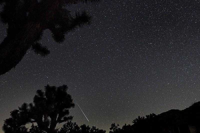 Meteoros Perseidas no Parque Nacional Joshua Tree
